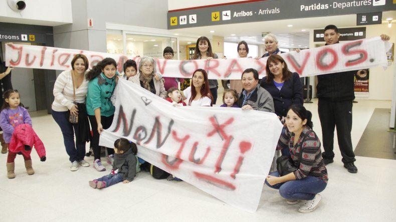 Julieta iba a China para continuar su tratamiento.