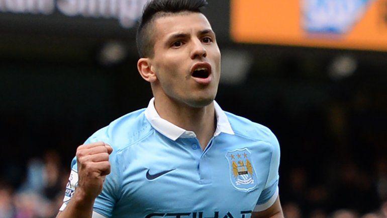 Agüero convirtió en la goleada del City al Stoke 4 a 0