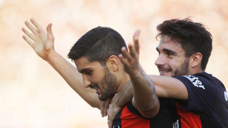Nicolás Blandi fue el autor del gol que le dio el triunfo a San Lorenzo.