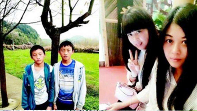 Algunos de los gemelos nacidos en Banshang