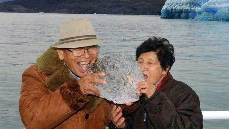 Momentos felices. Yoshiko Kumakura junto a su esposo