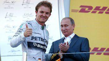 el imbatible rosberg logro en rusia su cuarta victoria del ano