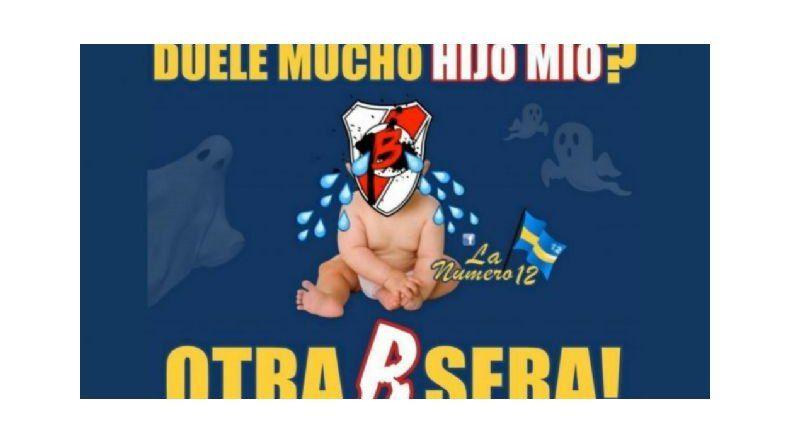 Boca le dedicó afiches a River por la eliminación