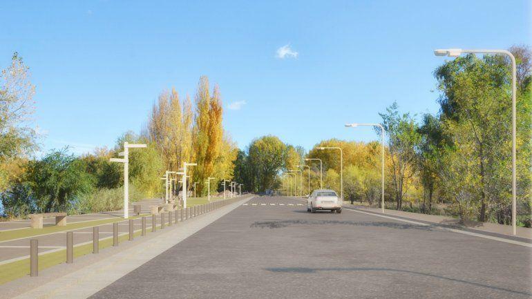 Así quedará el nuevo paseo diseñado por el Municipio de la ciudad de Neuquén.