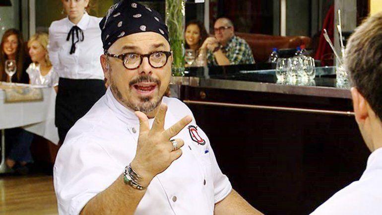 El chef se enojó con Gabriel por su plato principal.