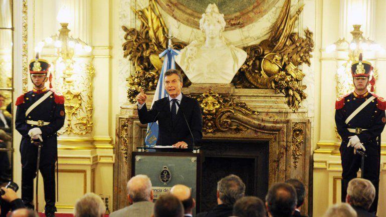 El Presidente encabezó el encuentro con los empresarios en Casa Rosada. Luego hizo el anuncio.