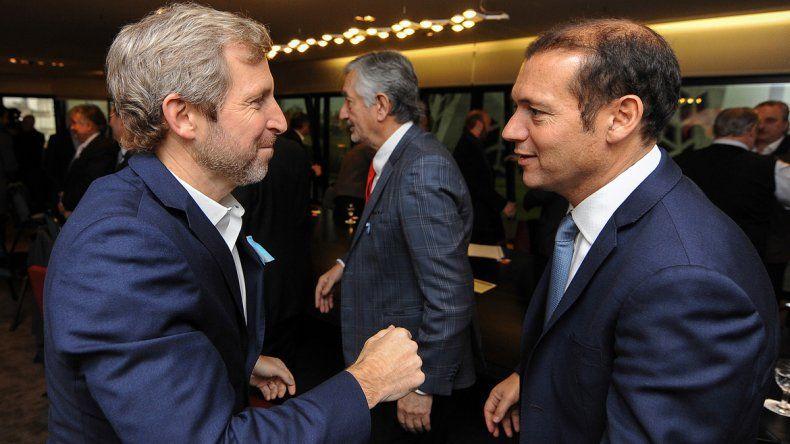 Omar Gutiérrez junto al ministro del Interior de la Nación
