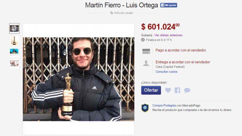 Subasta su Martín Fierro para producir una película