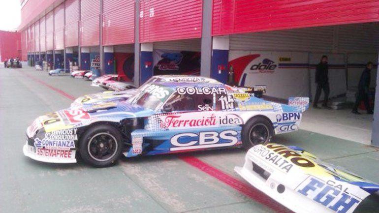 El auto de Camilo respondió en la previa pero no en la clasificación.