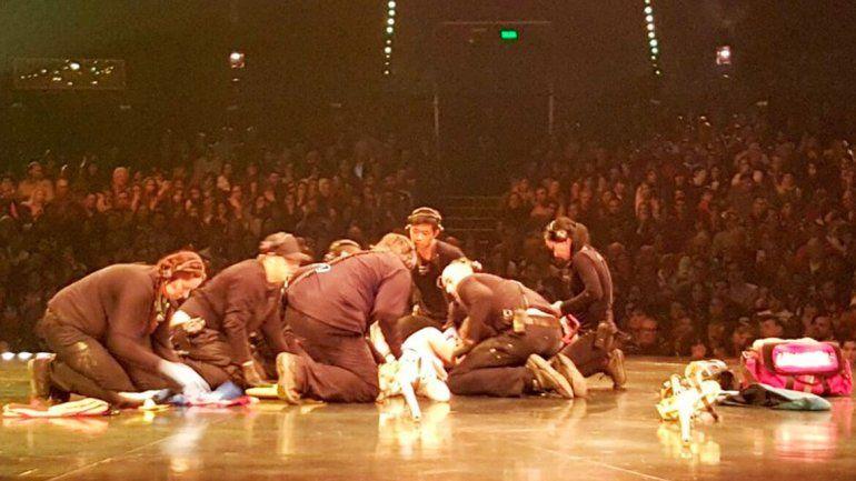 Se cayó un acróbata en plena función del Cirque du Soleil