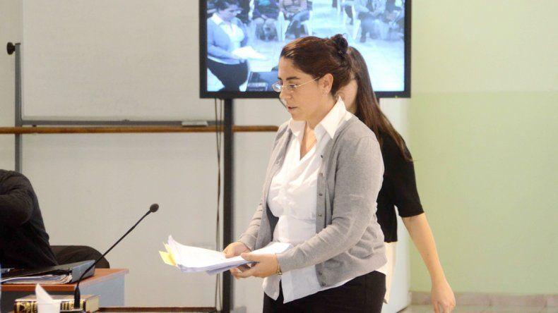 Maria Liliana Tesan llegó desde Estados Unidos para declarar por el juicio.