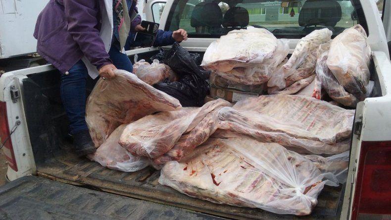 Decomisaron casi 400 kilos de carne en mal estado