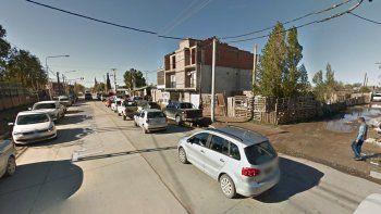 Calle Richieri casi Saturnino Torres, en Toma La Familia.