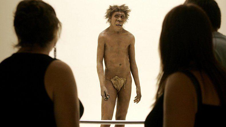 Reproducción de un hombre de Neandertal