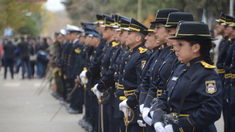 Las Fuerzas de Policía también desfilaron.