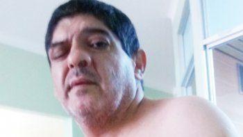 La última foto de Montecino, internado en el hospital Castro Rendón.