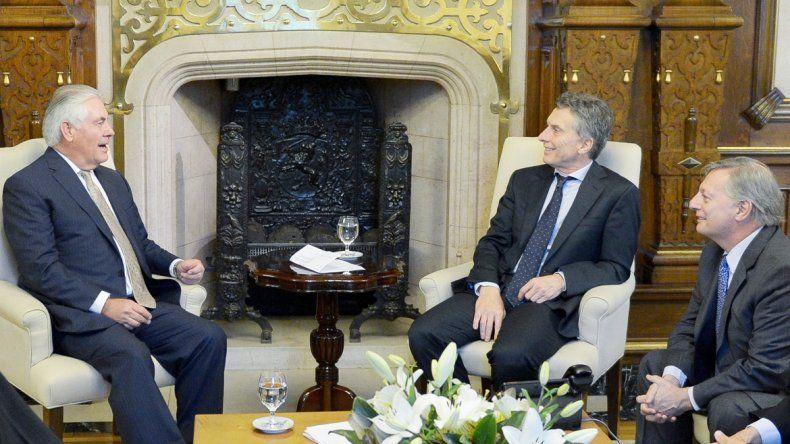 El presidente de la petrolera norteamericana fue recibido por Macri.