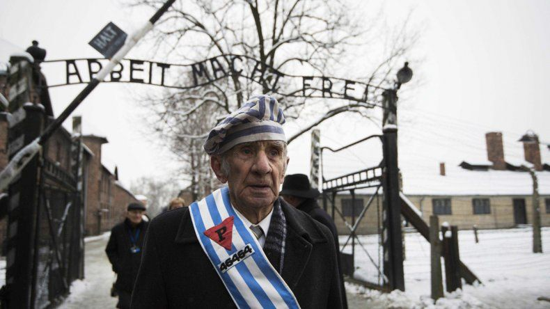 Un sobreviviente del campo de concentración de Auschwitz.