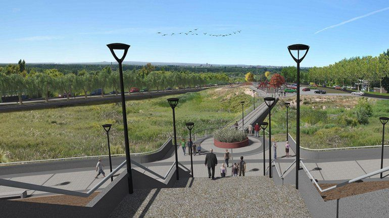 El proyecto de cómo quedará un sector del Parque Este en Neuquén capital a través del programa DAMI.
