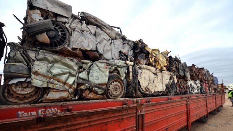 Todo el material reciclado es enviado a Buenos Aires.