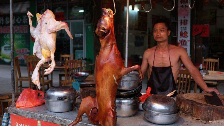 Una carnicería de Yulin