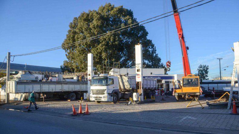 La estación de servicios de GNC que está desmontando el empresario mendocino apretado por la UOCRA.