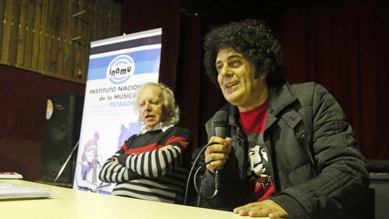 Miguel Cantilo y Diego Boris reunieron a 150 personas en su paso por la región.