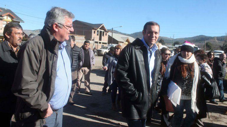 El gobernador estuvo de gira por el sur provincial.