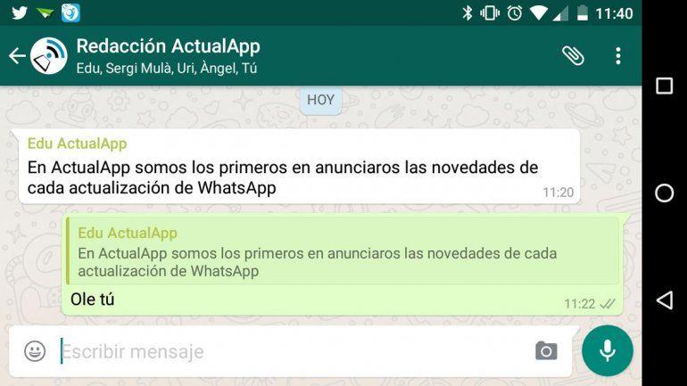 La nueva herramienta de Whatsapp para los chats grupales.