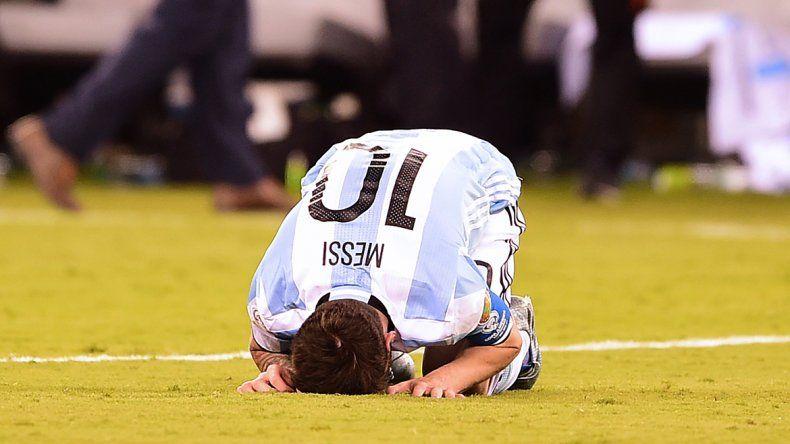 La desgarradora imagen de Messi luego de los penales