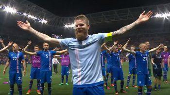 Mirá el festejo vikingo de la selección de Islandia