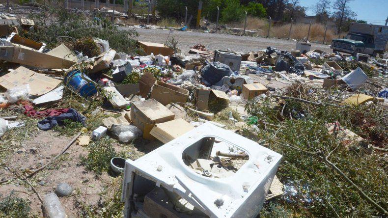 El Municipio abrirá un Centro de Transferencia para que la gente no arroje más los residuos voluminosos en plena calle (derecha).