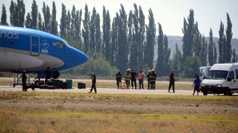 El perro se lanzó desde la bodega a la pista del aeropuerto de Neuquén.