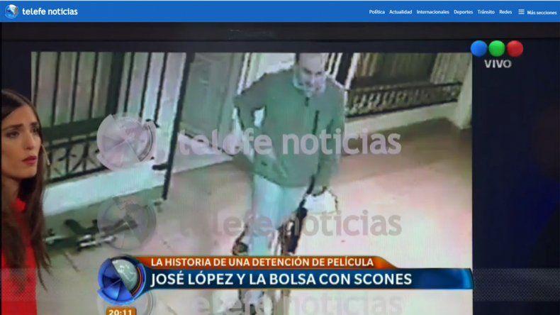 Mirá el video del momento en que López deja los millones en el monasterio