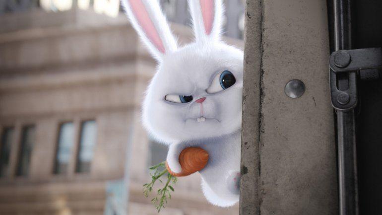 Snowball es el conejo que se pone al frente de la rebelión de mascotas abandonadas que busca vengarse de los dueños y los animalitos felices.