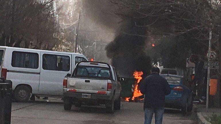 El Municipio volvió a multar a ATE por incendiar un contenedor
