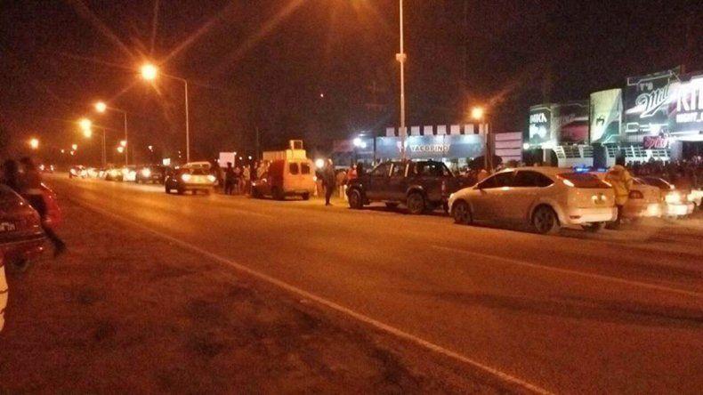 Los policías e inspectores hicieron los controles en la Ruta 22.
