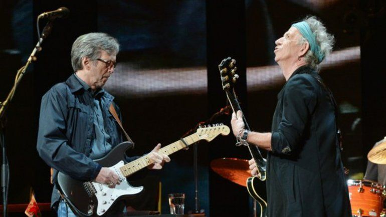 Eric Clapton y Keith Richards