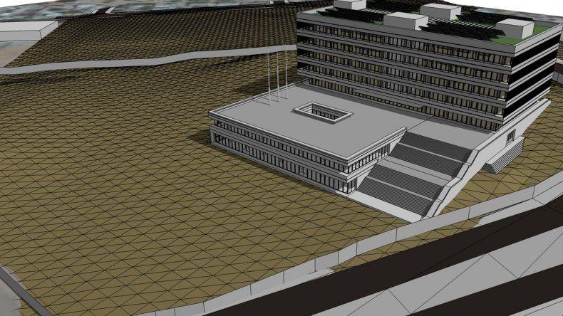 El Municipio dio a conocer una proyección digital del nuevo edificio. Saldrá 25.000 pesos el metro cuadrado.