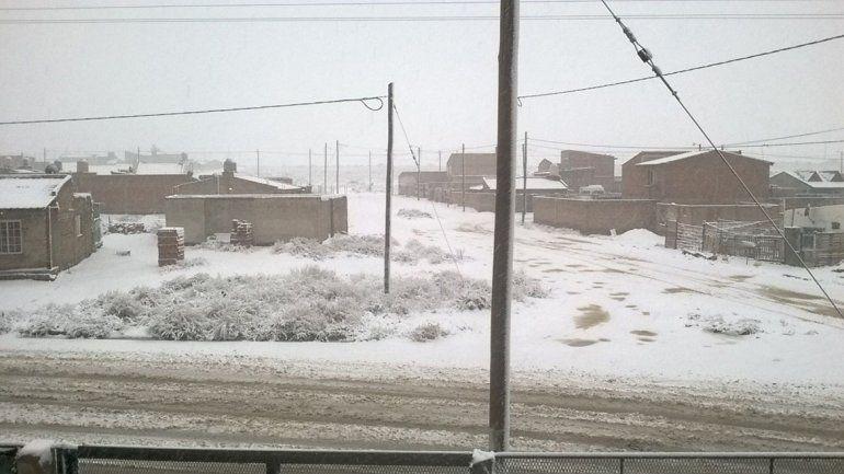 La nevada en Cutral Co.