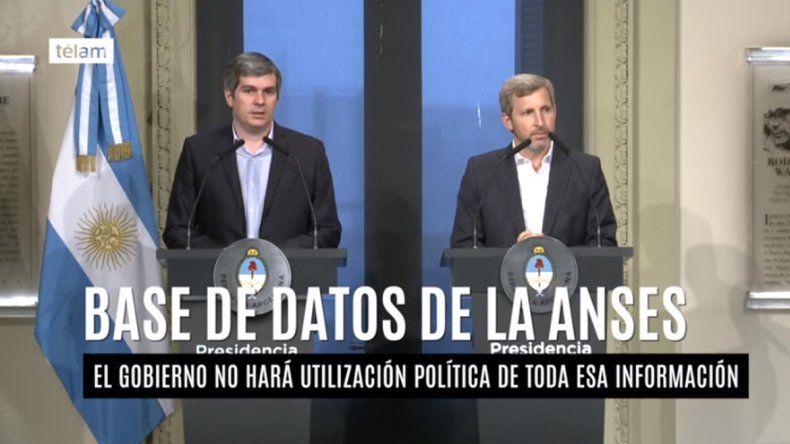 Peña desmiente que los datos de Anses tengan una utilización política