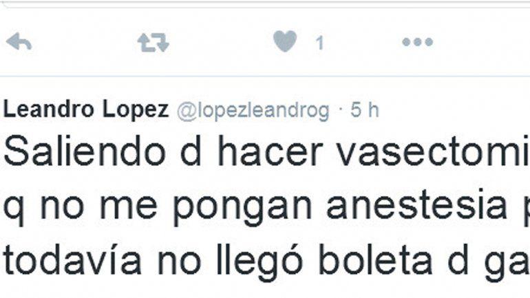 El diputado López