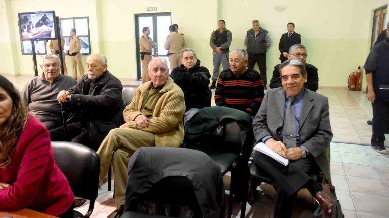 Algunos de los imputados del cuarto juicio por delitos de lesa humanidad.