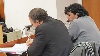 El abogado Lucero y su defendido, Popeye Rodríguez.