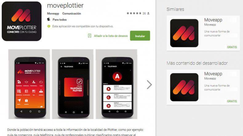 MovePlottier, la app con toda la información creada por dos vecinos de la ciudad