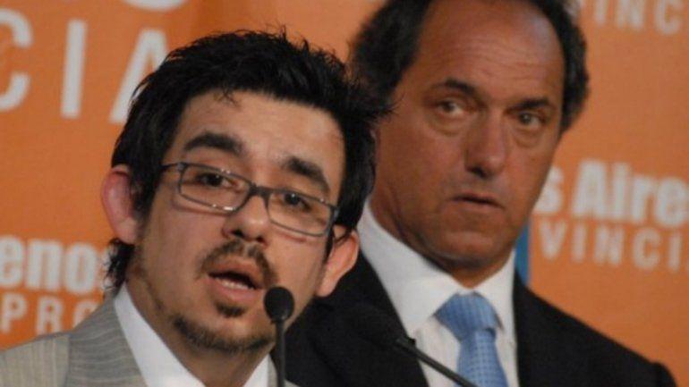 Alejandro Arlía junto a Daniel Scioli