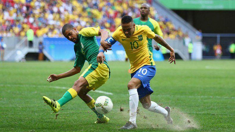 A pesar de tener uno más, Brasil no pudo con Sudáfrica