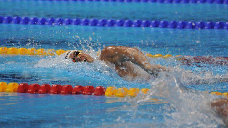 Grabich nopudo con los 200 metros libres en natación