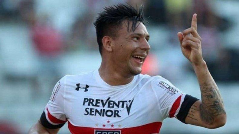 El Comandante Chávez hizo dos goles para el Sao Paulo