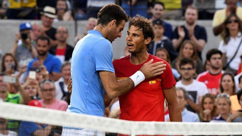 Nadal reconoció el gran nivel del argentino en un duelo muy parejo.